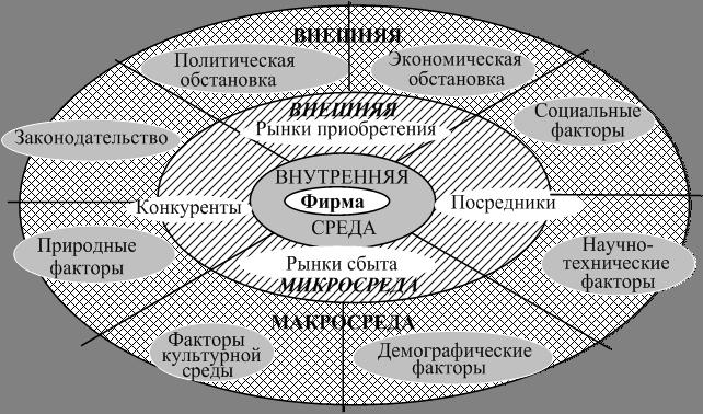 внешняя среда организации фирмы: